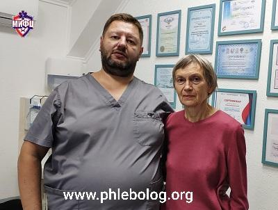 Patient review of treatment at our center by the surgeon-phlebologist Fedorov Dmitry Anatolyevich