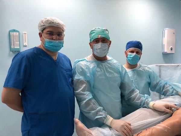 "Surgeons-phlebologists ""MIFC"" Semenov A.Yu. and Kalachev I.I. from Black K.P. before surgery"