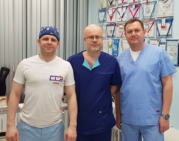 """Phlebologist Katasonov M.V. from Togliatti with doctors """"MIFC"""" after a master class"""