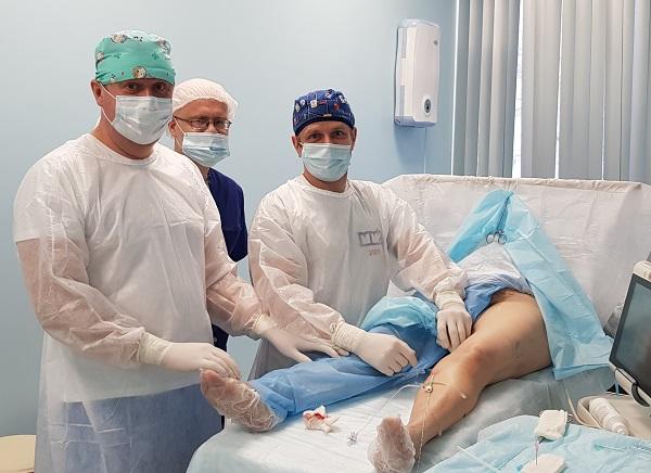 "Phlebologist Katasonov M.V. in the operating room ""MIFC"""