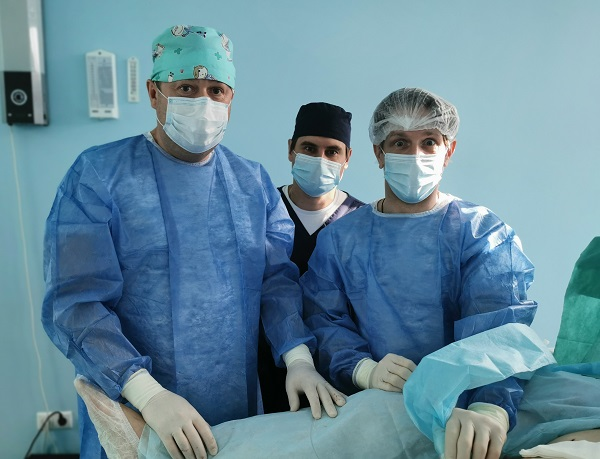 "Phlebologists ""MIFC"" with Dr. Soynov A.N. in the operating room"
