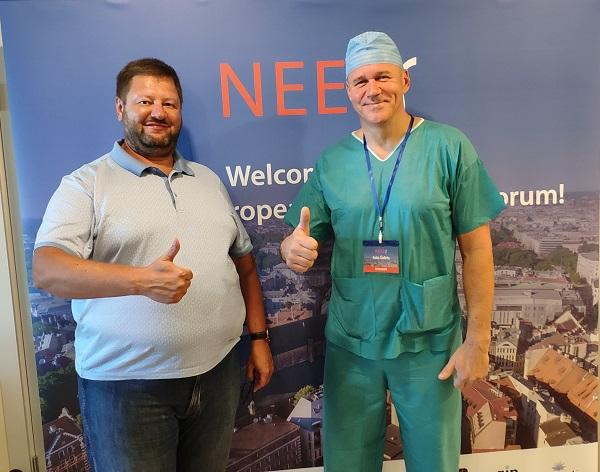 """Surgeon phlebologist """"MIFTS"""", Ph.D. Fedorov D.A. and Ince Udris after the master class"""