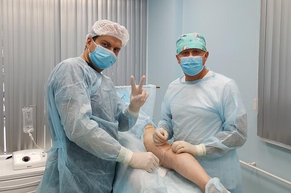 Durante l'EVLO con il Dr. Solomakhin A.E.