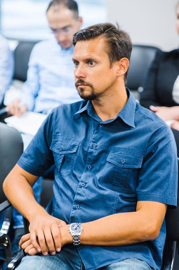 Phlebologist Raskin Vladimir Vyacheslavovich at a meeting