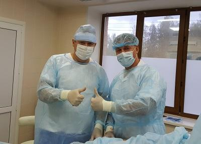 Phlebologists Semenov A.Yu. and Antipov A.A. after a successful laser procedure