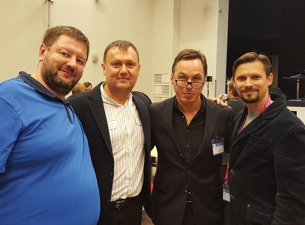 Medici del centro flebologico Semenov A.Yu. e Fedorov D.A. e Raskin V.V. con il Professor Alexander Flor (Austria)