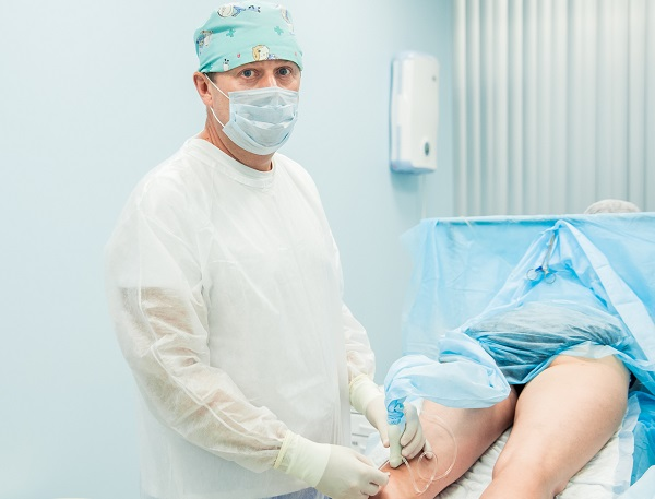 Laser treatment of relapses of varicose veins
