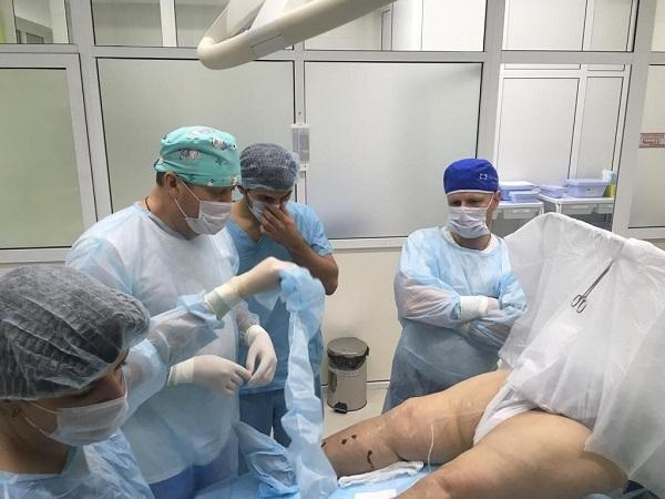 Treatment of trophic ulcers with radio frequency (RFA, RFO) in our center
