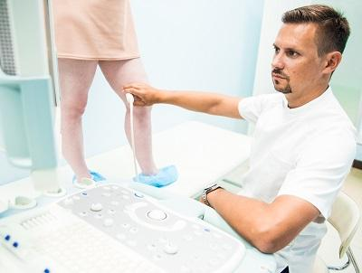 Examination of athletes for varicose veins