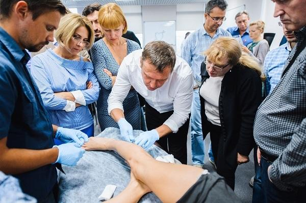 Master class performed by phlebologist Semenov A.Yu. on microsclerotherapy